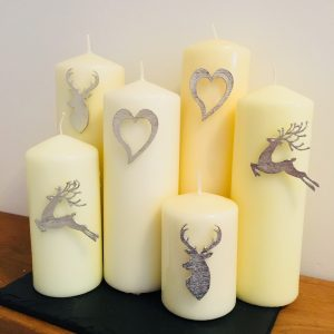 Stag Head Candle Decor, Handmade UK Modern English Pewter, Stag Candle Pin