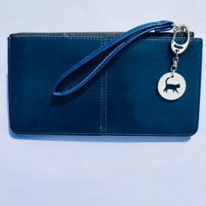 Cat key ring, Cat Bag charm, Handmade UK Modern English Pewter, Cat Keychain