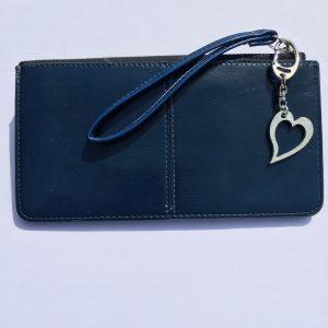 Heart bag charm, Handmade UK Modern English Pewter, heart keychain