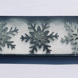 Snowflake Candle Decor (Set of 3), Handmade UK Modern English Pewter, Snowflake Candle Pins