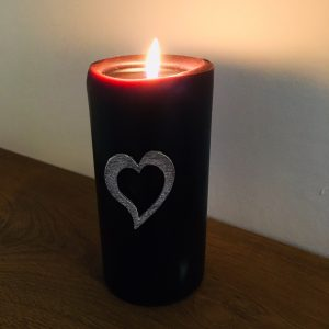 Heart candle Pin Decor