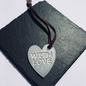 With Love Heart Gift Tag