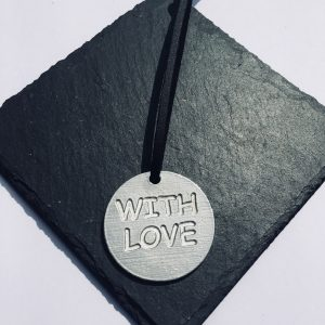 With Love Round Gift Tag