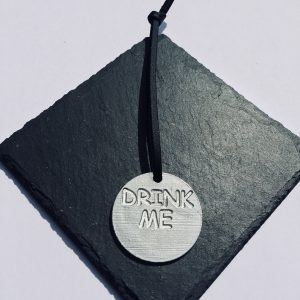 Drink Me Round Gift Tag