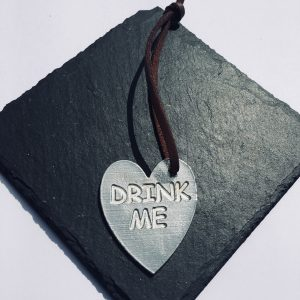 Drink Me Heart Gift Tag