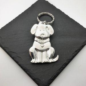 Sitting Dog key ring