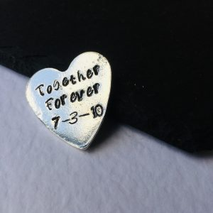 Together Forever – Personalised Heart Keepsake Token